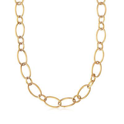 C. 1990 Vintage Nouvelle Bague Cable-Link Necklace in 18kt Yellow Gold, , default