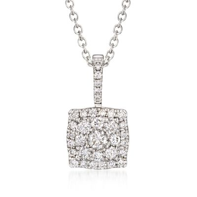 Gregg Ruth .53 ct. t.w. Diamond Necklace in 18kt White Gold, , default