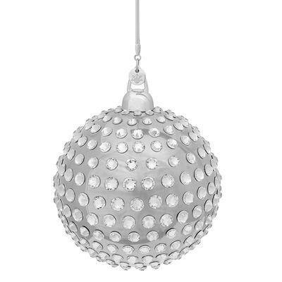 Crystamas Xirius Swarovski Crystal Platinum-Colored Ball Ornament