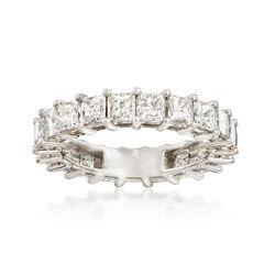 4.00 ct. t.w. Princess-Cut Diamond Eternity Band in Platinum, , default