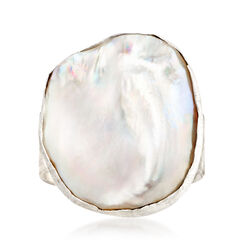 18-21mm Cultured Baroque Pearl Ring in Sterling Silver, , default