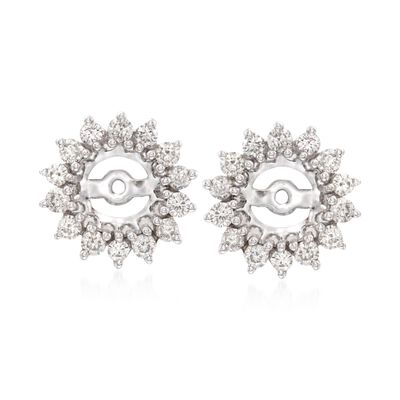 .99 ct. t.w. Diamond Earring Jackets in 14kt White Gold