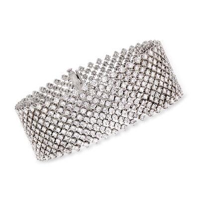 15.95 ct. t.w. Diamond Medium Mesh Bracelet in 18kt White Gold, , default