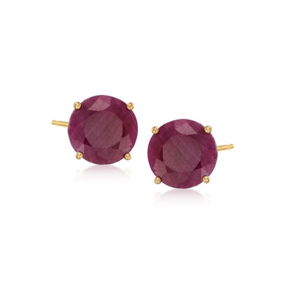 6.50 ct. t.w. Ruby Stud Earrings in 14kt Yellow Gold