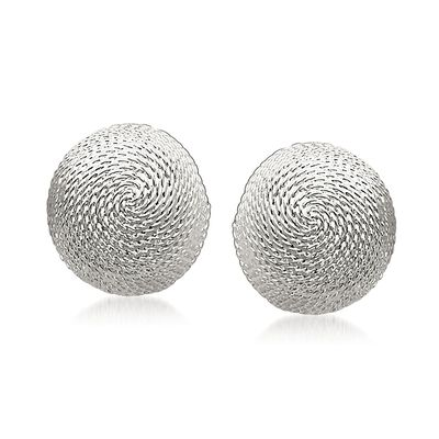 Sterling Silver Roped Dome Earrings