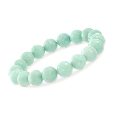 10-11mm Amazonite Bead Stretch Bracelet, , default