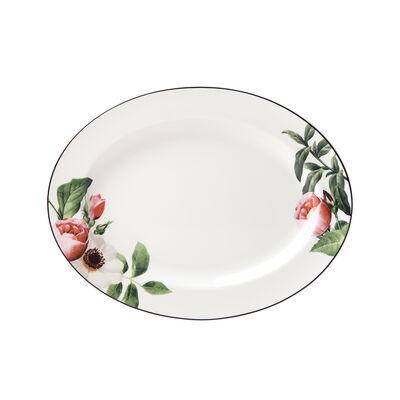 """Kate Spade New York """"Bloom Street"""" Ceramic Oval Serving Platter, , default"""