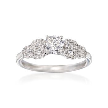 .75 ct. t.w. Diamond Engagement Ring in 14kt White Gold. Size 7, , default