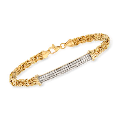 .50 ct. t.w. Diamond Byzantine Bracelet in 14kt Yellow Gold, , default