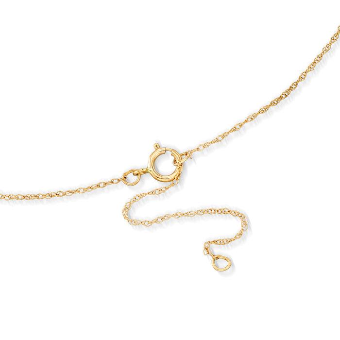 14kt Yellow Gold Hamsa Pendant Necklace