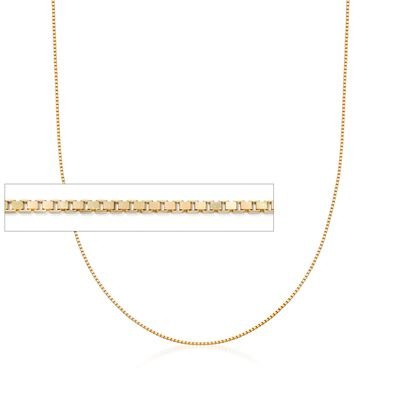 Italian 1mm 18kt Gold Over Sterling Adjustable Slider Box Chain, , default