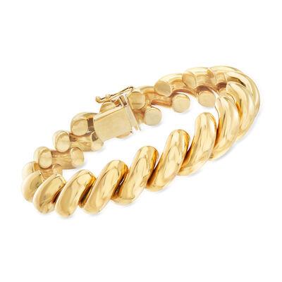 C. 2000 Vintage 14kt Yellow Gold San Marco Bracelet