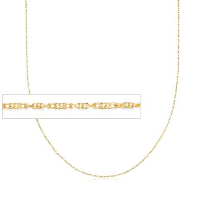 Italian .8mm 18kt Yellow Gold Tubetto Chain Necklace, , default