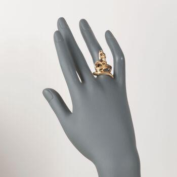 Italian 14kt Gold Over Sterling Snake Ring. Size 5, , default
