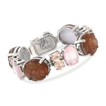 "Stephen Dweck Multi-Stone Statement Bracelet in Sterling Silver. 7"", , default"