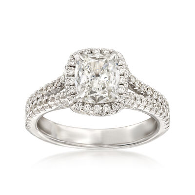 Henri Daussi 1.53 ct. t.w. Certified Diamond Ring in 18kt White Gold  , , default