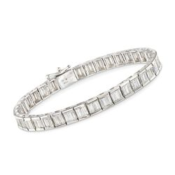 "5.00 ct. t.w. Baguette Diamond Tennis Bracelet in 14kt White Gold. 7"", , default"