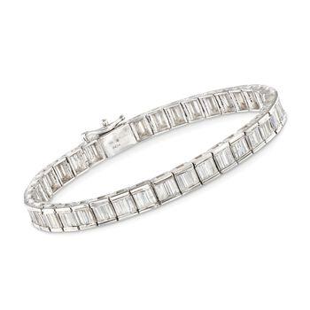 "5.00 ct. t.w. Baguette Diamond Tennis Bracelet in 14kt White Gold. 7"", , default"