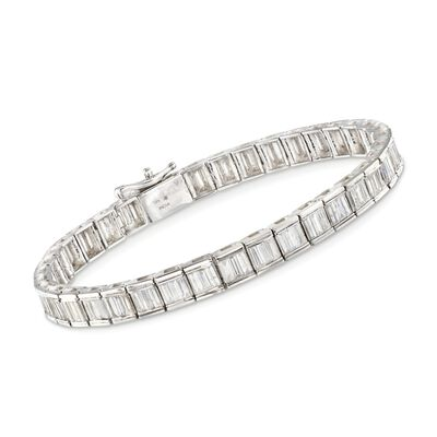 5.00 ct. t.w. Baguette Diamond Tennis Bracelet in 14kt White Gold, , default