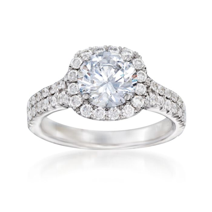 .78 ct. t.w. Diamond Engagement Ring Setting in 14kt White Gold