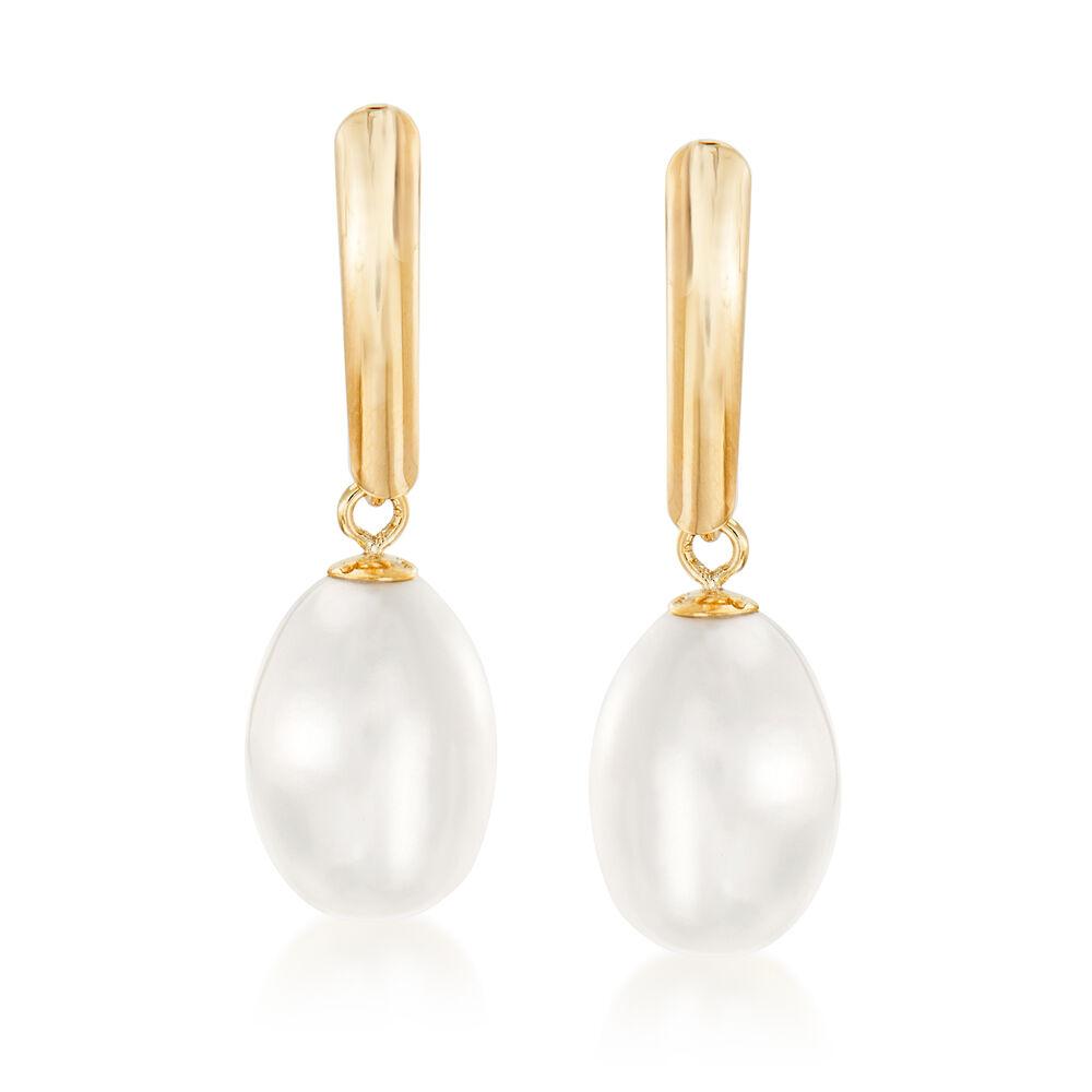 8 5 9mm Cultured Pearl Drop Earrings In