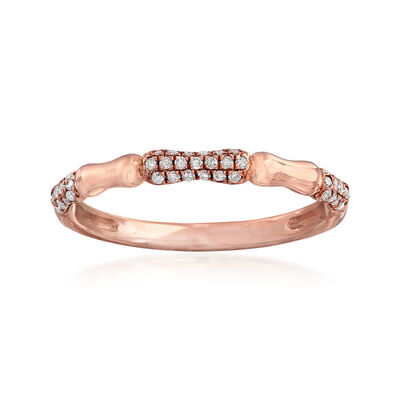 .15 ct. t.w. Pave Diamond Ring in 14kt Rose Gold, , default