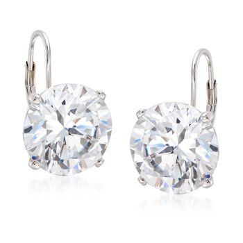 13.00 ct. t.w. Round CZ Drop Earrings in Sterling Silver, , default