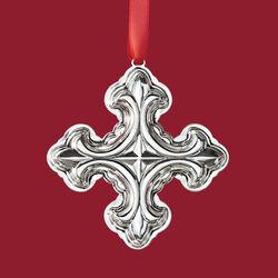 Reed & Barton 2018 Annual Sterling Silver Christmas Cross Ornament - 48th Edition, , default