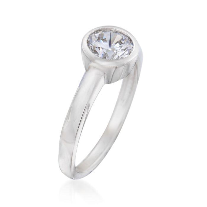 1.00 Carat Bezel-Set CZ Ring in Sterling Silver