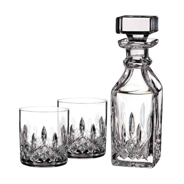 "Waterford Crystal ""Connoisseur"" Set of 2 Lismore Tumbler Glasses with Square Decanter, , default"