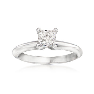 .71 Carat Certified Princess-Cut Diamond Engagement Ring in 14kt White Gold