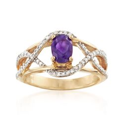 .90 Carat Amethyst and .20 ct. t.w. Diamond Ring, , default