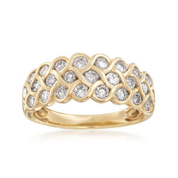 1.00 ct. t.w. Diamond Multi-Row Ring in 14kt Yellow Gold, , default