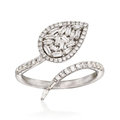 .52 ct. t.w. Baguette and Round Diamond Bypass Ring, , default