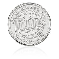 14kt White Gold MLB Minnesota Twins Lapel Pin, , default