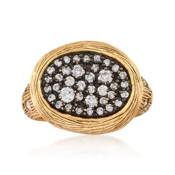 C. 1990 Vintage .67 ct. t.w. Diamond Oval Ring in 14kt Yellow Gold. Size 6.5, , default