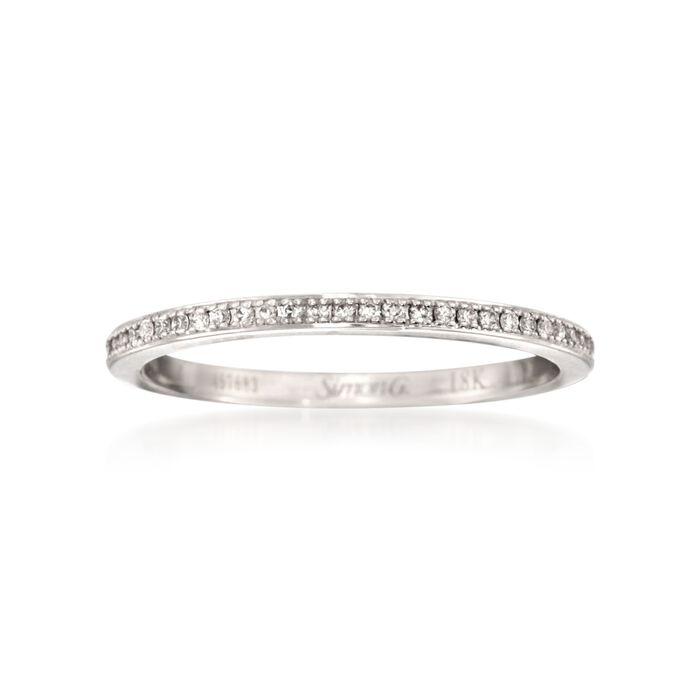 Simon G. .25 ct. t.w. Diamond Eternity Wedding Ring in 18kt White Gold. Size 7