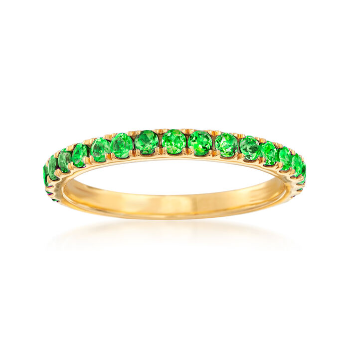.60 ct. t.w. Green Chrome Diopside Ring in 18kt Gold Over Sterling, , default