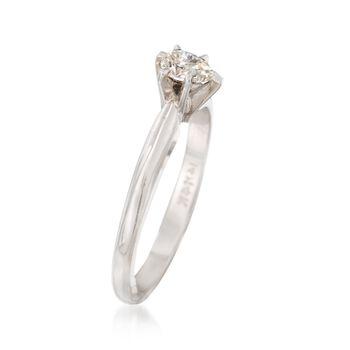 C. 2000 Vintage .25 Carat Diamond Ring in 14kt White Gold. Size 6.5, , default