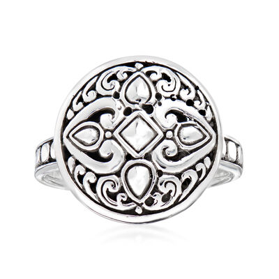 Sterling Silver Bali-Style Circle Ring