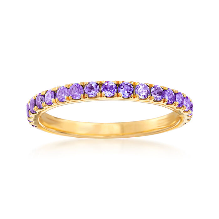 .50 ct. t.w. Amethyst Ring in 18kt Gold Over Sterling, , default
