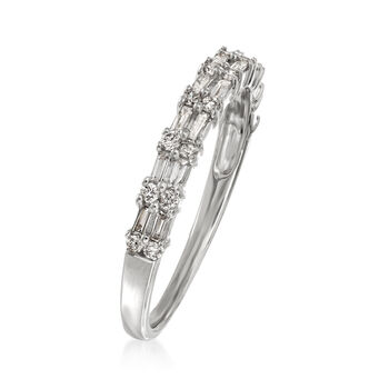 .30 ct. t.w. Round and Rectangular Baguette Diamond Ring in 14kt White Gold, , default