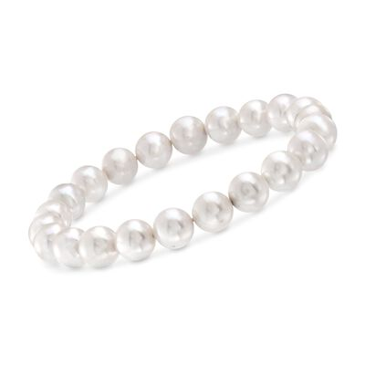 8-8.5mm Cultured Pearl Stretch Bracelet, , default
