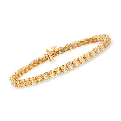 1.00 ct. t.w. Diamond Bracelet in 18kt Gold Over Sterling, , default