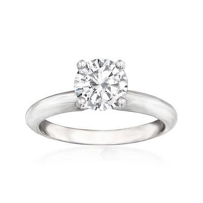 1.21 Carat Certified Diamond Ring in 14kt White Gold