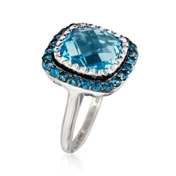 8.90 ct. t.w. Sky and London Blue Topaz Ring in Sterling Silver, , default
