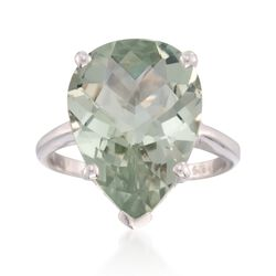 8.75 Carat Green Amethyst Ring in Sterling Silver, , default