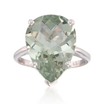 8.75 Carat Green Amethyst Ring in Sterling Silver, , default