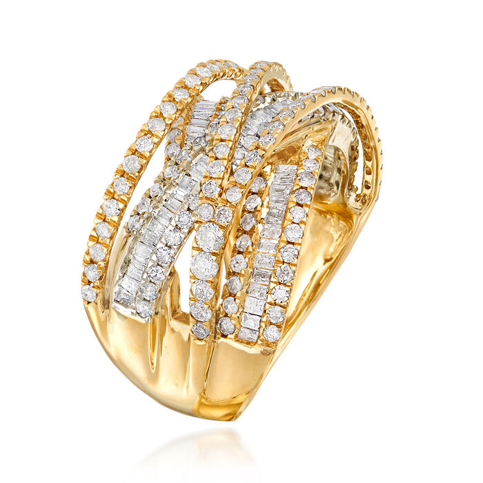 1.85 ct. t.w. Diamond Highway Ring in 14kt Two-Tone Gold