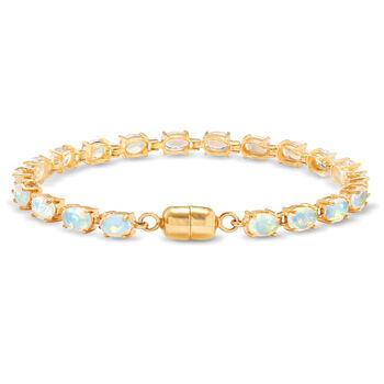 """Ethiopian Opal Tennis Bracelet in 14kt Gold Over Sterling. 7"""", , default"""